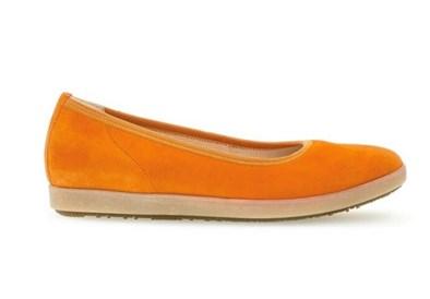 Gabor Orange Suede Ballerina Pump